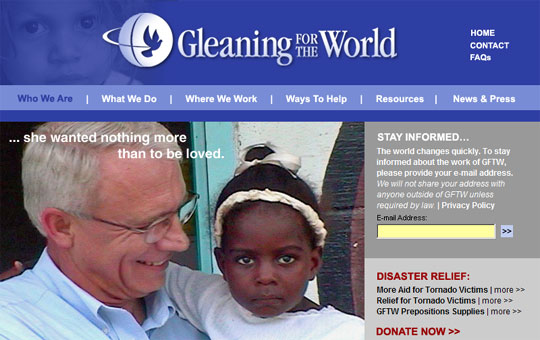 Rev. Ron Davidson, Founder of Gleaning for the World