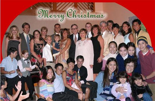 2003 Peck family Christmas card