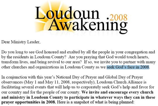 Loudoun Awakening 2008