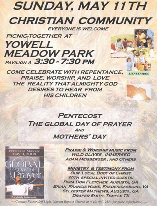 2008 Global Day of Prayer in Culpeper