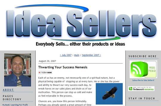 Thwarting Your Success Nemesis - Idea Seller blog by Daniel Sitter