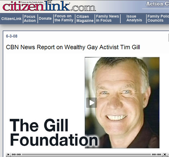 CBN News Report on Wealthy Gay Activist Tim Gill