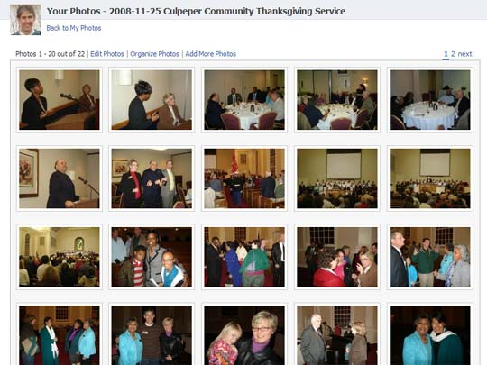 Photos from the 2008 Culpeper Community Thanksgiving service