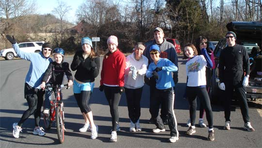 New Years Day 5k run in Culpeper Virginia