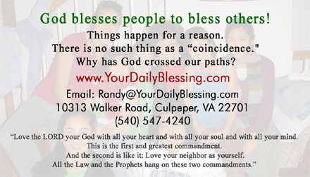 God blesses people to bless others!