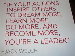 Great leaders inspire action