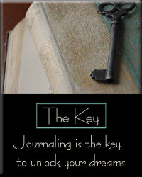 Poster: Journaling is the key to unlock your dreams!